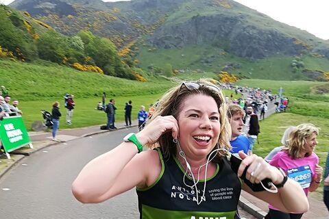 Anne McCluskey Edinburgh Marathon Festival