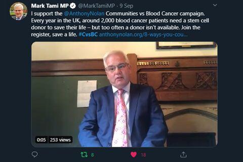Mark_Tami_MP_TWEET_Communities_vs_Blood_Cancer
