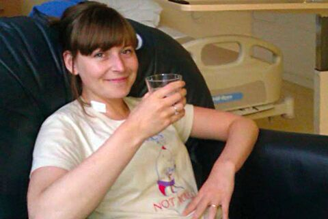 Patient Jo Kelly - during treatment