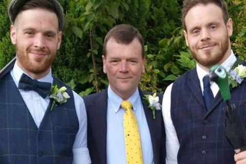 Chris and Tom with their dad Martin