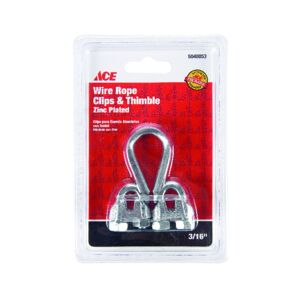 "CLIP AND THIMBLE 3/16"" WIRE ROPE ACE"