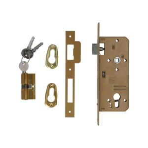 MORTICE LOCK 45MM W/CYLINDER PAINTED ISE