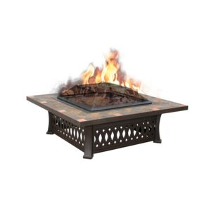 "FIRE PIT 44"" SLATE TABLE SQUARE BROWN"