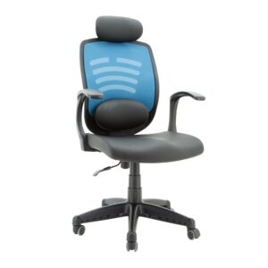 OFFICE CHAIR MANAGER L.BLUE/BLACK WIFI