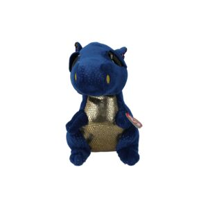 TY SOFT TOY/SAFFIRE DRAGON MED