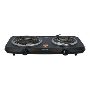 STOVE ELECTRIC 2500W HOTPLATE DOUBLE BLK