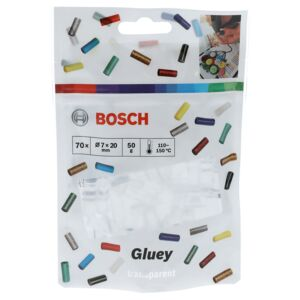 BOSCH GLUEY STICKS TRANSPARENT 70 PCS