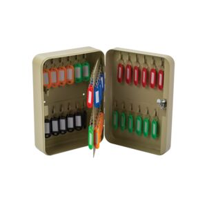 KEY BOX 48 HOOKS LIGHT BEIGE