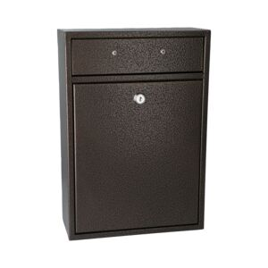 MAIL BOX WALL MOUNT W/LOCK BRONZE MB