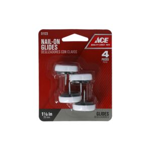 "GLIDES 1 1/8"" 4PC NAIL-ON NYLON ACE"