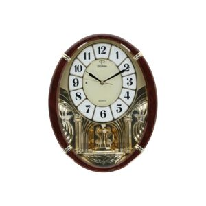 MELODY WALL CLOCK 44CM COLOR BROWN