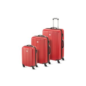 LUGGAGE 3PCS SET CUBA ABS RED SML