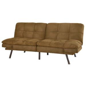 SOFA BED 3SEATER 182X86X82CM BROWN
