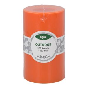 "CANDLE LED FLAMELESS 3X5"" PLASTIC ORANGE"