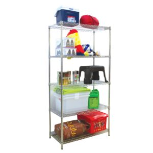 WIRE RACK 91X45X180CM 5 TIER CHROME HD