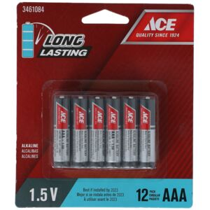 BATTERY ALKALINE AAA 12PCS ACE