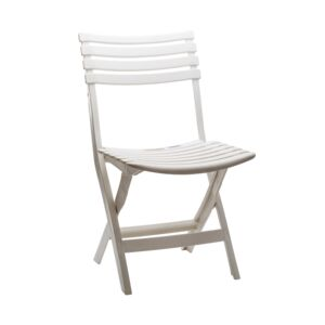 FOLDING CHAIR PLASTIC WHITE