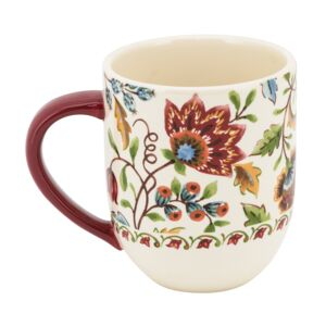 MUG 14oz FLOWERS IN FALL BICO