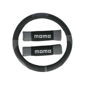 STEERING WHEEL COVER KIT 007 BLACK/GRAY