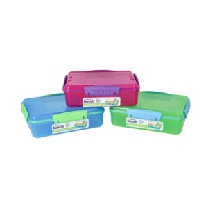 FOOD STORAGE 975ML DUO PINK RECTANGULAR
