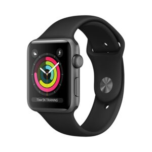 APPLE WATCH S3 42MM SPACE GRY W/BLK BAND