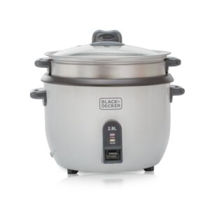 RICE COOKER 2.8L 1100W NON STICK WHT B&D
