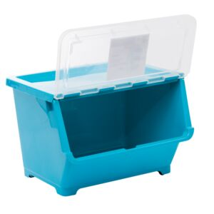 STORAGE BOX 30L BLUE LARGE PLASTIC
