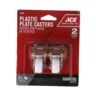 """CASTER 1.25"""" 2PC PLATE WHITE ACE"""