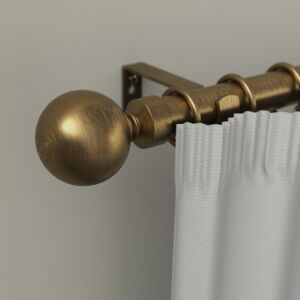 CURTAIN RODS 25/28MM BALL 210-410 GOLD