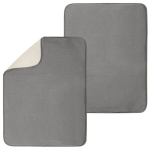 DRYING MAT SINK XL PEWTER/IVORY