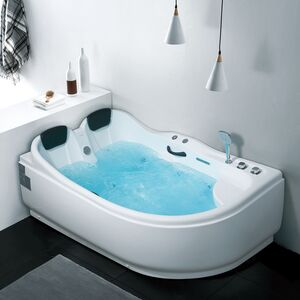MASSAGE BATHTUB SKY 180X121X73CM L WHITE