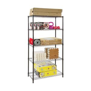 WIRE RACK 91X45X180CM 5 TIER BLACK HD