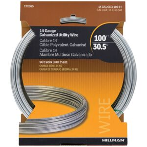 WIRE GALVANIZED 14GA 100' STEEL HILLMAN