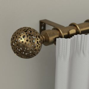 CURTAIN RODS 16/19MM SFERA 160-310 GOLD