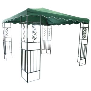 GAZEBO METAL  3X3M - GREEN
