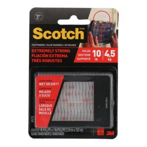 "FASTENER 1""X3"" EXTREME CLEAR SCOTCH"