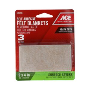 "FELT BLANKET 2X4"" BLACK HD ACE"
