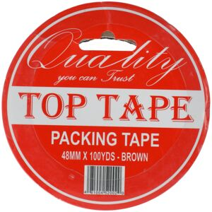 "PACKAGING TAPE 2""X100YD BRWN TOP TAPE"