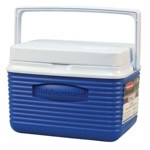 ICE CHEST 4.8LT BLU/RD RUBBERMAID