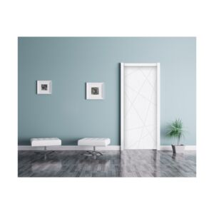 DOOR LEAF&FRAME 2100X900X37MM MDF WHITE