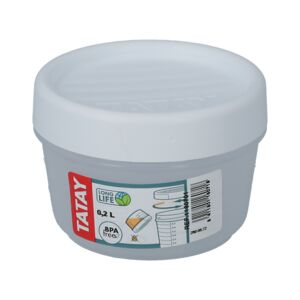 FOOD CONTAINER 0.2L W/ THREAD WHT 60701