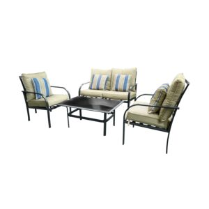 SEATING 4PCS SET 3CHAIR 1TBLE 2CUSH L.A.