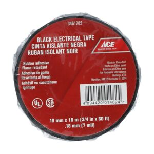 ELECTRICAL TAPE 19X19X0.18MM BLACK ACE
