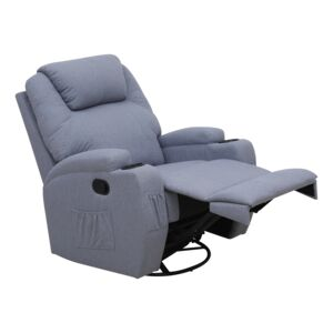 RECLINER SWIVEL&ROCKR HEATNG/MASSAGE GRY