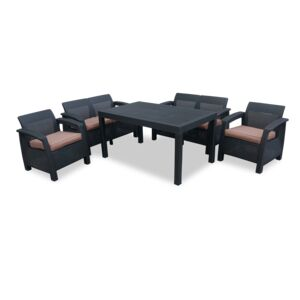 SEATING SET 5PCS 1COFFEE TABLE 4CHAIR