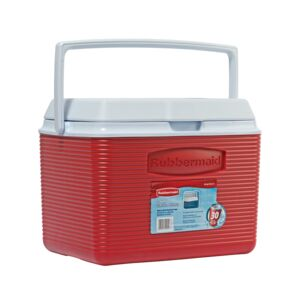 ICE CHEST 24QTR BLUE/ORANGE RUBBERMAID