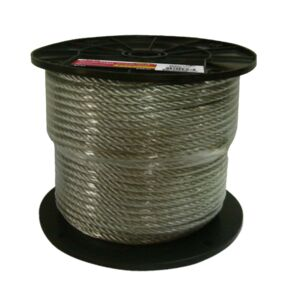 CABLE 1/4X7X19 76M/RL COATED /METER