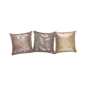 CUSHION DEC 2PCS/PK FOIL PRINTED 43X43CM