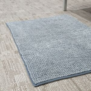 BATHMAT 50x81CM CHENILLE FLEECE GREY