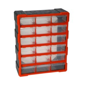 STORAGE BOX 18DRAWER PLASTIC TACTIX
